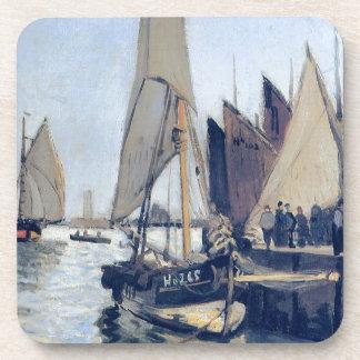 Bateaux à voile chez Honfleur par Claude Monet Sous-bock