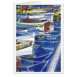 Bateaux d'Amalfi Italie accouplés Carte