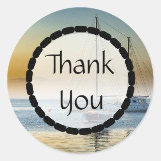 Bateaux de Merci sur les autocollants d'océan