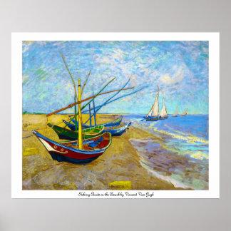 Bateaux de pêche sur la plage par Vincent van Gogh