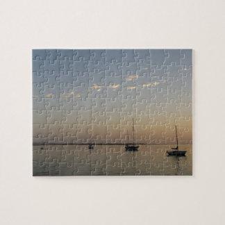 Bateaux sur le puzzle de l'eau