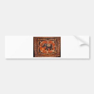 Batik d'éléphant autocollant de voiture
