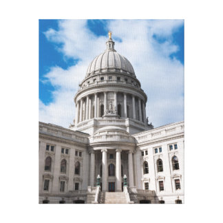 Bâtiment et entrée de capitol d'état du Wisconsin Toiles