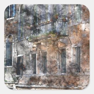 Bâtiments de Venise Italie Sticker Carré