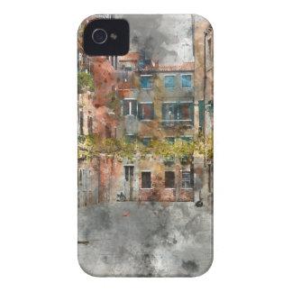 Bâtiments et canaux colorés de Venise Italie Coques iPhone 4