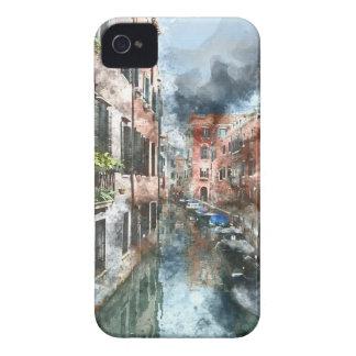 Bâtiments et canaux colorés de Venise Italie Étui iPhone 4