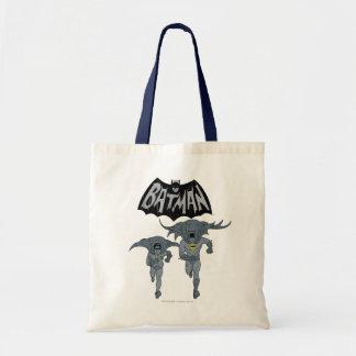 Batman et Robin avec le graphique affligé par logo Sac En Toile Budget