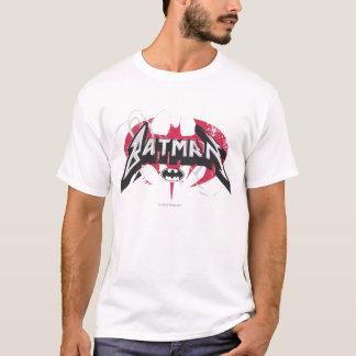 Batman logo rouge et noir de   t-shirt