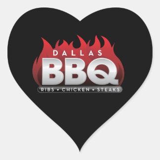 Bâton unique de style de BBQ de Dallas Sticker Cœur