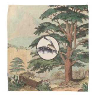 Batte de vol dans l'illustration d'habitat naturel foulards