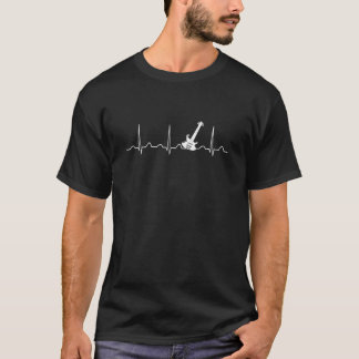 BATTEMENT DE COEUR DE GUITARE T-SHIRT