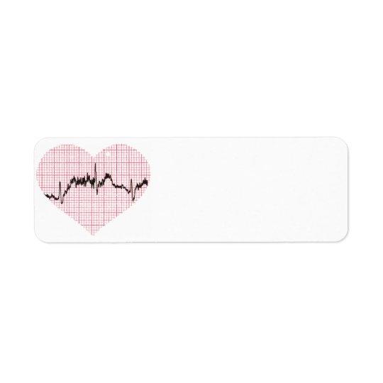 Battement de coeur VII Étiquettes D'adresse Retour