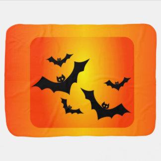 Battes de Halloween au crépuscule Couvertures Pour Bébé