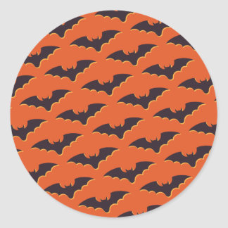 Battes de Halloween Sticker Rond