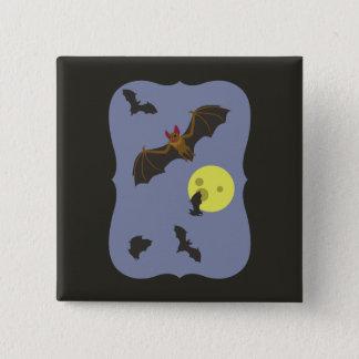Battes éffrayantes de Halloween Badge Carré 5 Cm