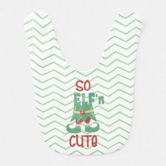 Bavoir Ainsi ELF'n mignon, Chevron, Noël drôle