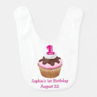 Bavoir Anniversaire personnalisé de petit gâteau