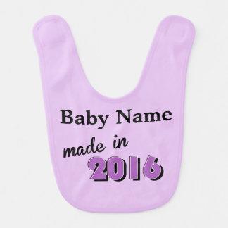 Bavoir Bébé pourpre fait sur commande fait en 2016