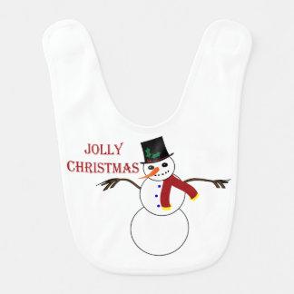 Bavoir Bonhomme de neige gai de Noël
