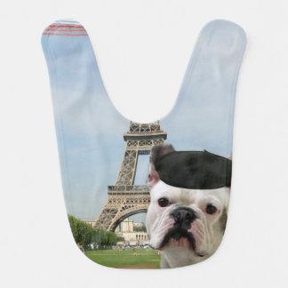 Bavoir Bouledogue français à Paris