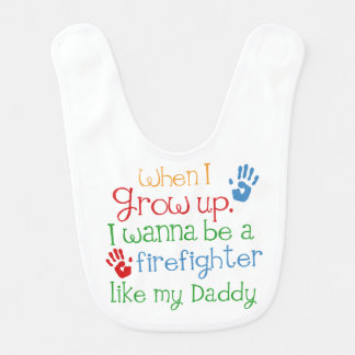 Bavoir Cadeau de bébé de handprints de sapeur-pompier
