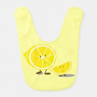 Bavoir Citrons coupés en tranches de sourire