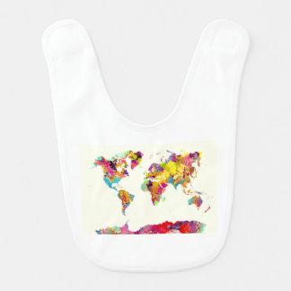 Bavoir couleurs de carte du monde