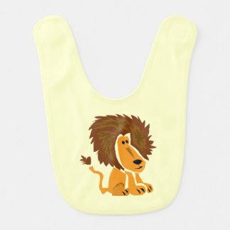 Bavoir de bébé d'art de lion