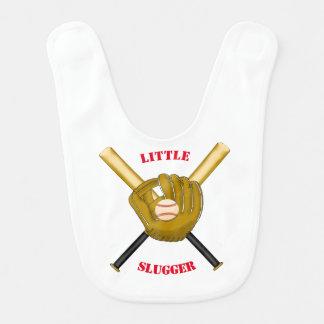 Bavoir de bébé de batte et de gant