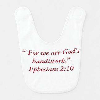 """Bavoir de bébé """"de l'ouvrage de Dieu"""""""