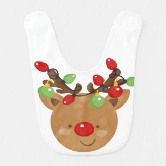 Bavoir de bébé de Noël de renne