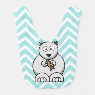 Bavoir de bébé d'ours blanc