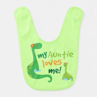 Bavoir de dinosaure de bébé de tante Loves Me
