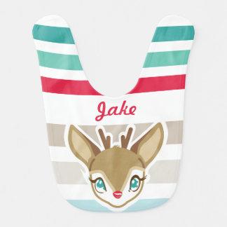 Bavoir de Noël des cerfs communs   de bébé