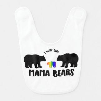 Bavoir Deux maman Bears Baby Bib