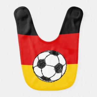 Bavoir Drapeau allemand avec le football
