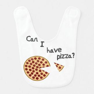 Bavoir Est-ce que je peux prendre la pizza ?
