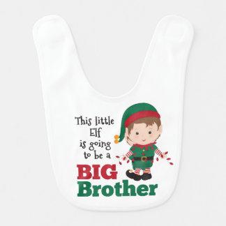 Bavoir Faire-part de frère d'Elf de Noël