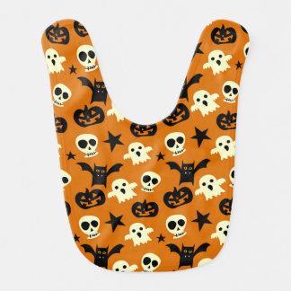 Bavoir Fantômes et crânes mignons de Halloween