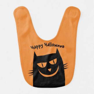 Bavoir heureux de chat de Halloween