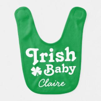 Bavoir irlandais de jour de St Patricks du bébé |