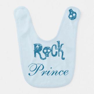 Bavoir Jouer du rock Prince - bébé blue