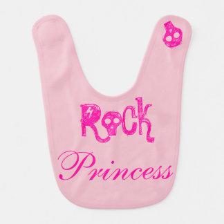Bavoir Jouer du rock rose Princess -
