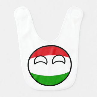 Bavoir La Hongrie Geeky tendante drôle Countryball