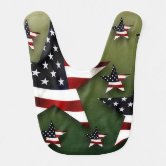 Bavoir Les Etats-Unis tiennent le premier rôle le drapeau