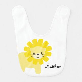Bavoir Lion jaune mignon personnalisé