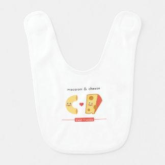 Bavoir Meilleurs amis : Macaronis et fromage