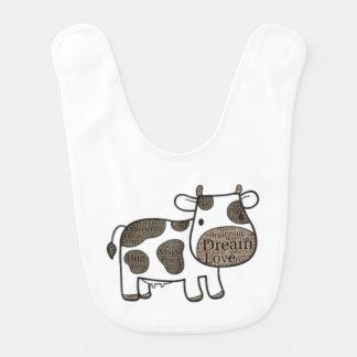 Bavoir mignon de bébé avec la vache