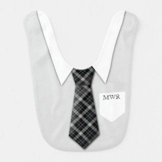 Bavoir Mignon drôle de cravate du costume du garçon