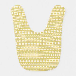 Bavoir Motif tribal aztèque de jaune léger de moutarde